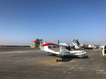 Refueling at Shafter-Minter Airport (KMIT). (Bruce Holmes)