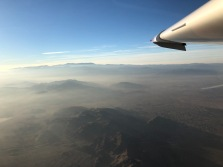 Morning Haze Flying Eastward from Victorville, CA. (Bruce Holmes)