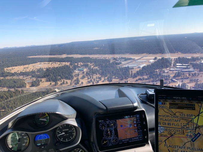 Flagstaff AZ Airport (KFLG); Elev. 7015 ft MSL; Runway Length 8,800 feet. (Bruce Holmes)